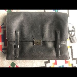 Burberry Leather Messenger Bag